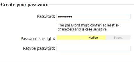 Microsoft Passport password UI