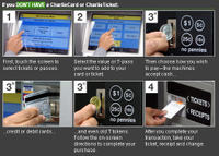 Charlie card system display steps